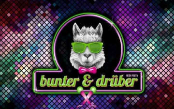 Bunter & Drüber - Neon Freibier Party am 24.09.2019