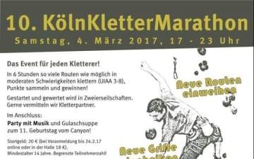 10. Kölner Kletter Marathon im Canyon