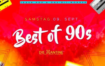 Best of 90s Party in der Kantine