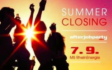 Die AfterJobParty auf dem Rhein - Summer Closing
