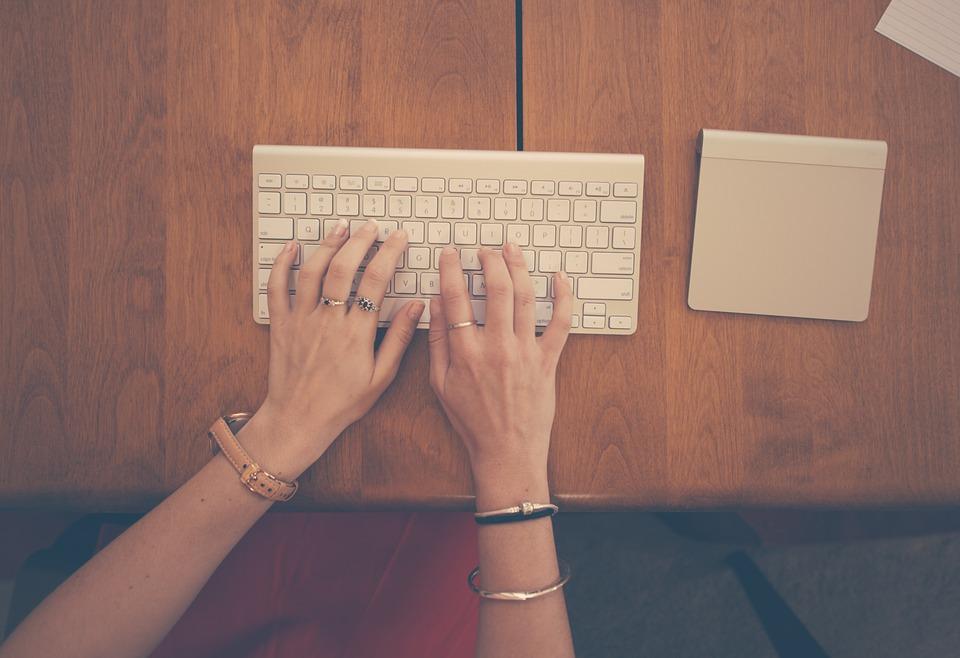 writing typing keyboard
