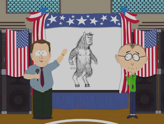 manbearpig as seen in South Park