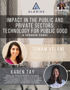 Tech for Good Sonam Velani Karen Tay