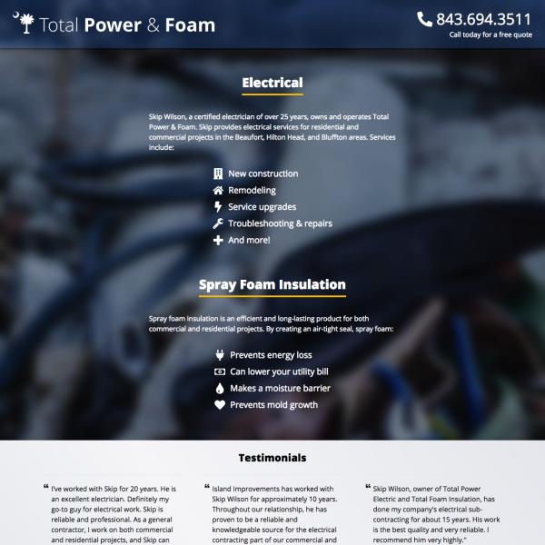 Total Power & Foam