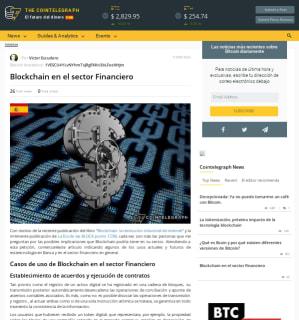 Artículo publicado en CoinTelegraph