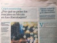 Diario El País Retina con el artículo sobre el Malware y BTC