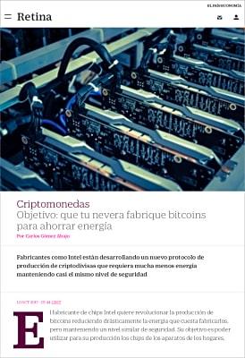 Artículo en El País Retina