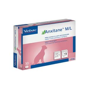 ANXITANE M/L VET TAB TIL HUND >10 KG, 30 TAB