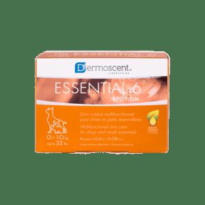 DERMOSCENT ESSENTIAL 6®SPOT-ON FOR HUND/SMÅ PATTEDYR 0-10 KG, 4X0,6 ML