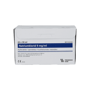 NATRIUMKLORID FRES 9 MG/ML MICROSPOL SPYLEAMP, 20X30 ML
