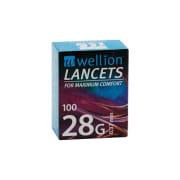 Wellion Lansetter 28G, 100 stk