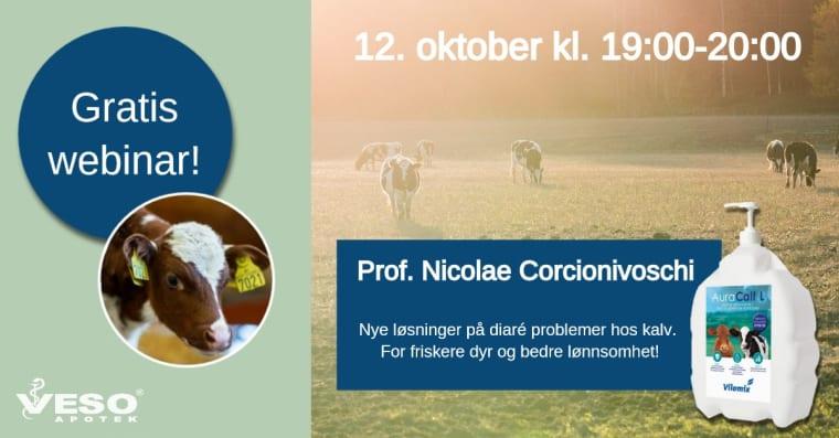 Gratis webinar: Nye løsninger på diaré hos kalv ved Vilomix og VESO Apotek