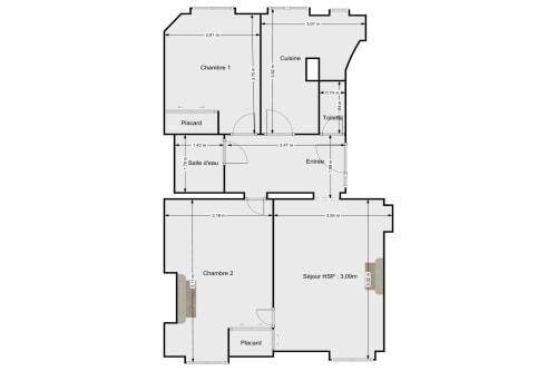 vente appartement de 56.15m² à paris