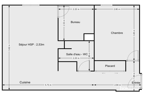 vente appartement de 47.0m² à paris