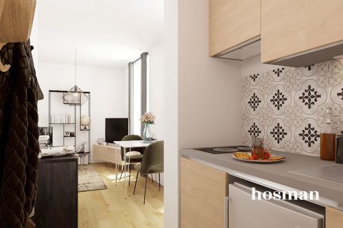 vente appartement de 25.32m² à paris