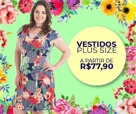 Vestidos Feminino Plus Size - Pré Coleção Primavera Verão