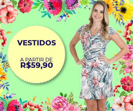 Vestidos Feminino - Pré Coleção Primavera Verão