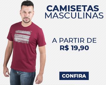 Camisetas Masculina a partir de R$ 19,90