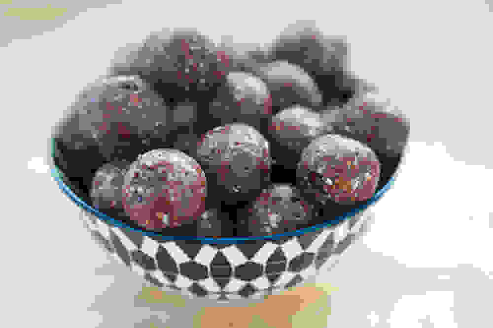 bliss balls in a bowl