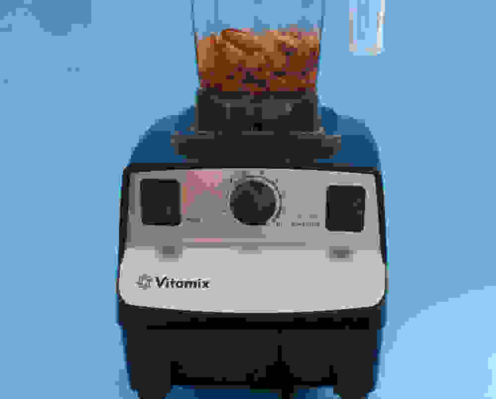 almonds in a high speed blender