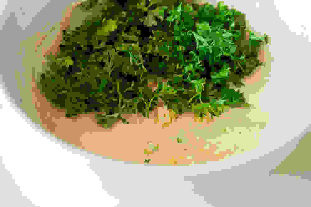tahini dressing with parsley
