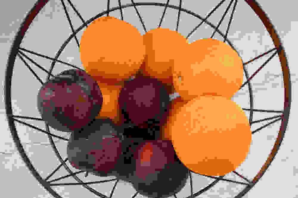 plums and oranges