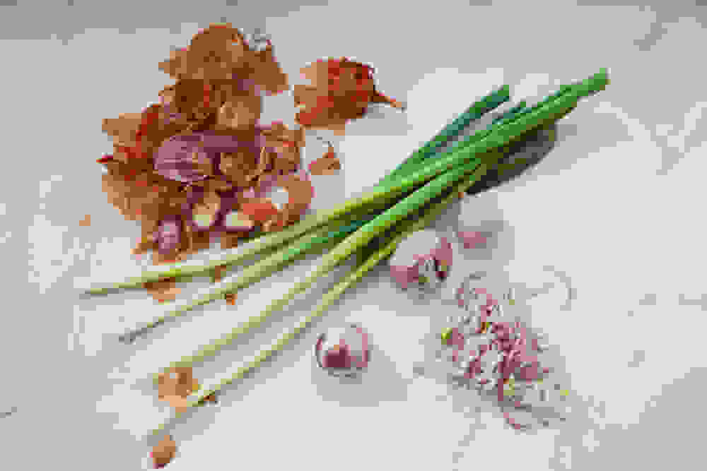 green onions and shallots