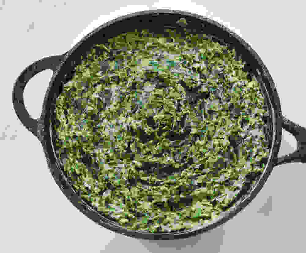 creamy spinach and cashew filling