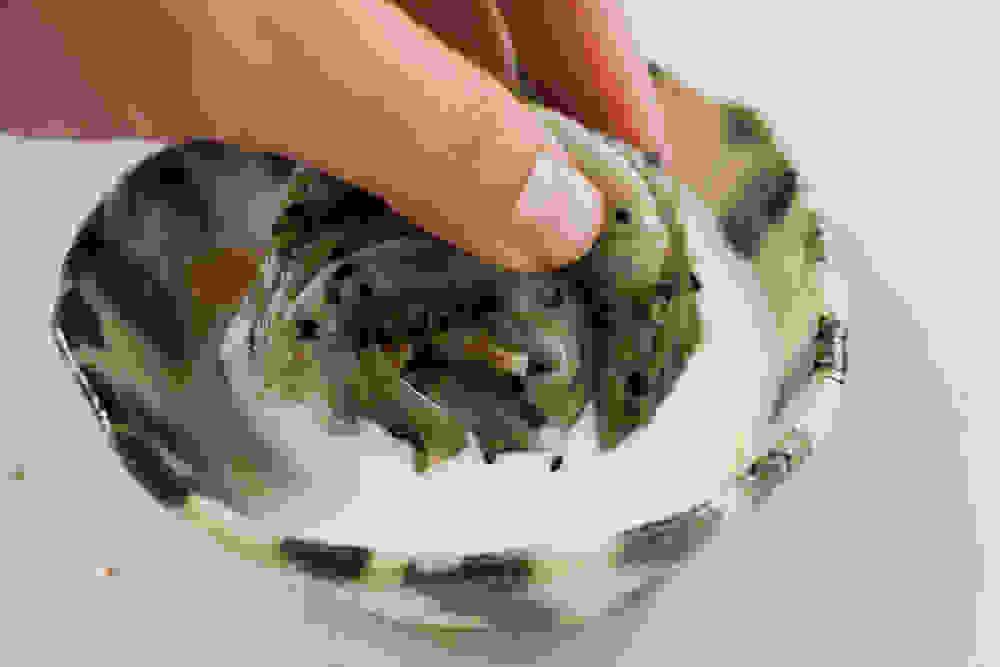 burrekas snails dipped in yogurt