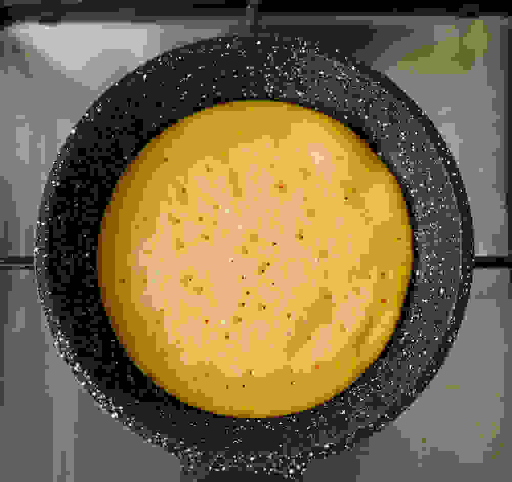 pumpkin pancake on the frying pan