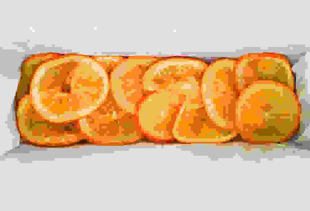 cooked orange slices overlapping