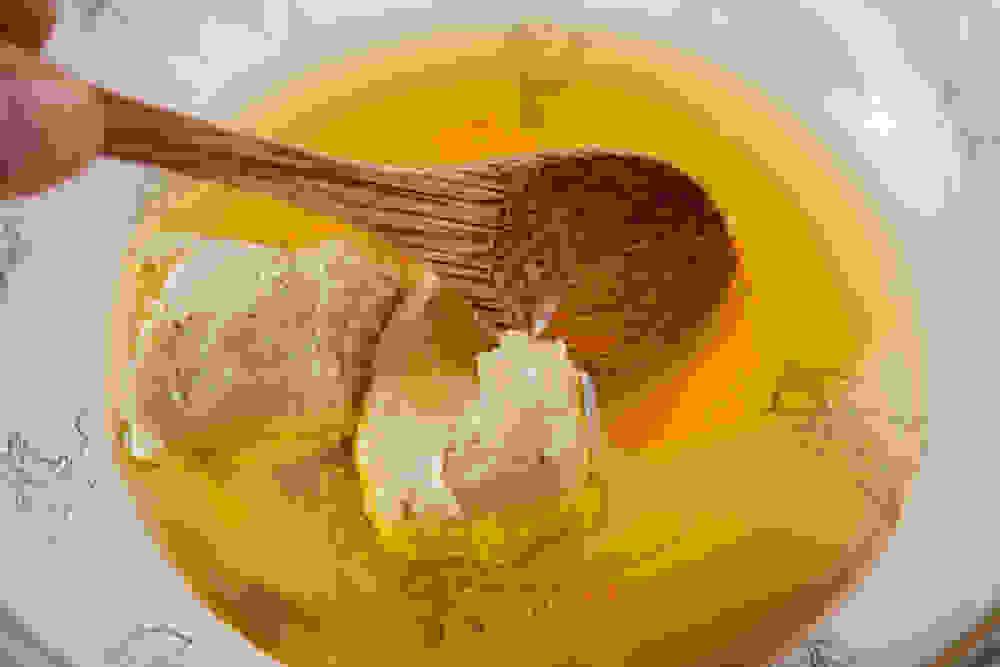 preparing vegan white chocolate