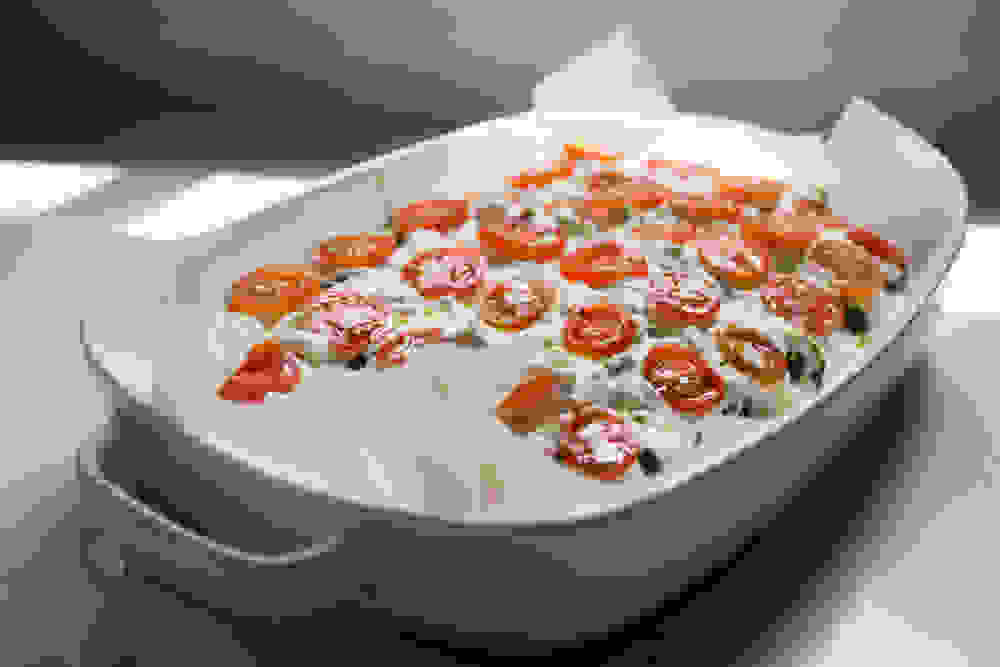 Vegan-Gluten-Free Chard And Cashew Lasagna before baking