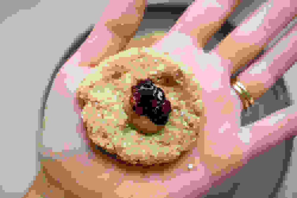 filling peanut butter berries bliss balls