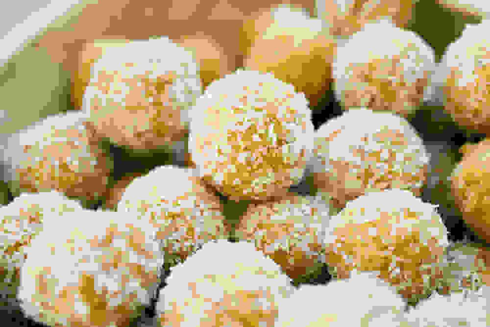 Mango Lime Coconut Protein Balls