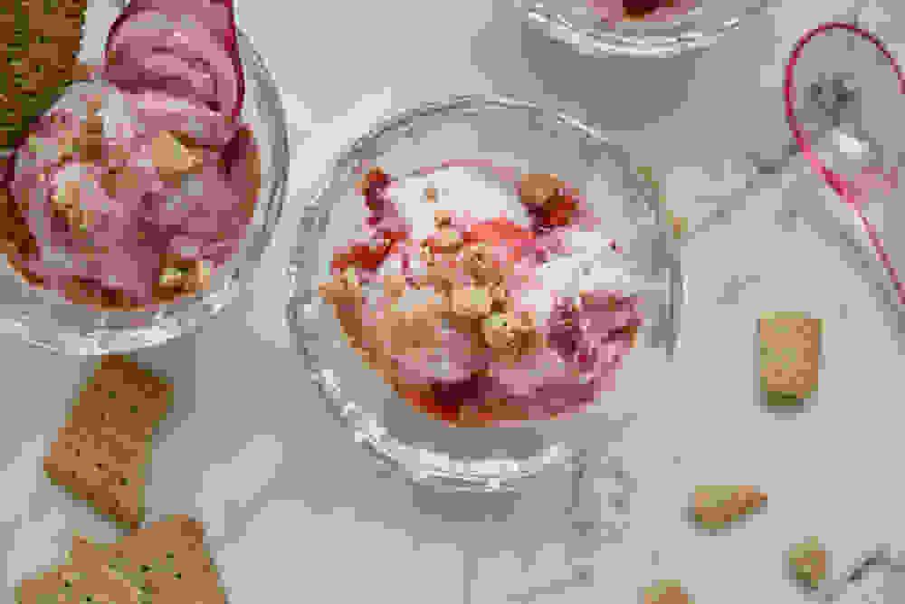 Vegan Strawberry Cheesecake Ice Cream