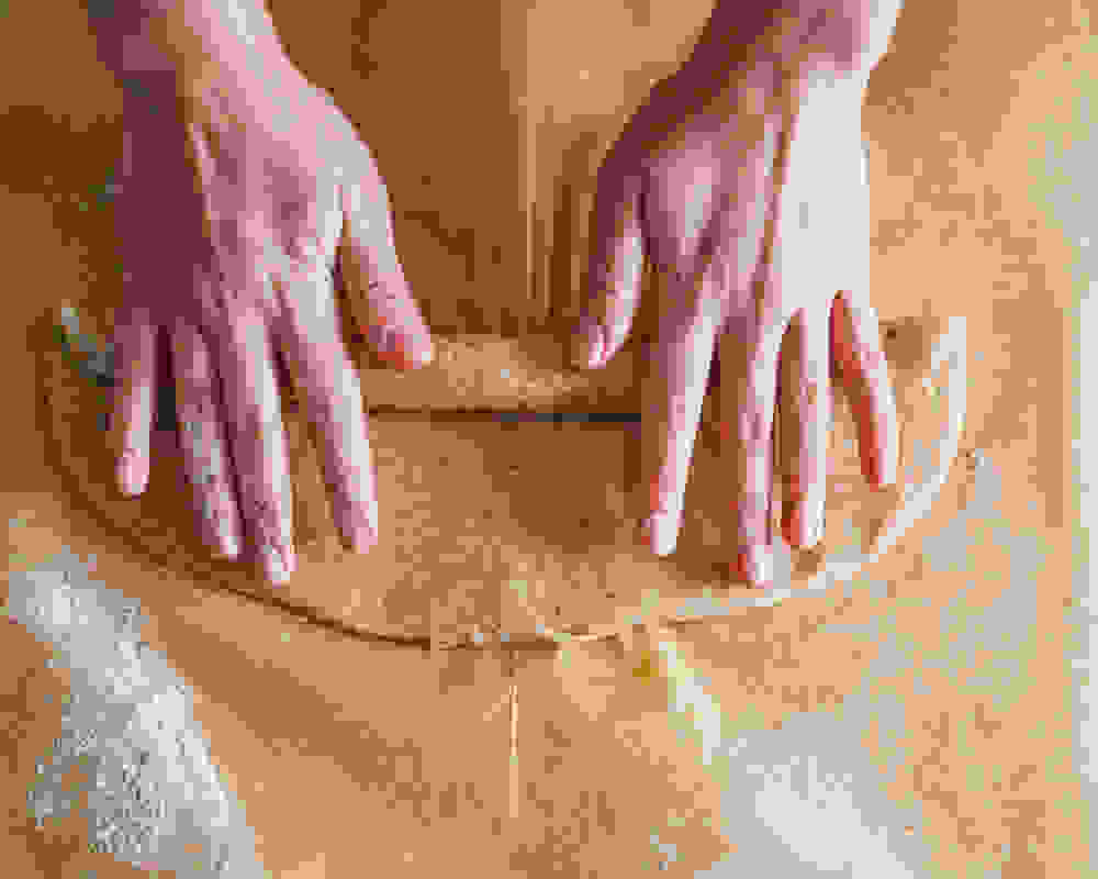 creating dough strands