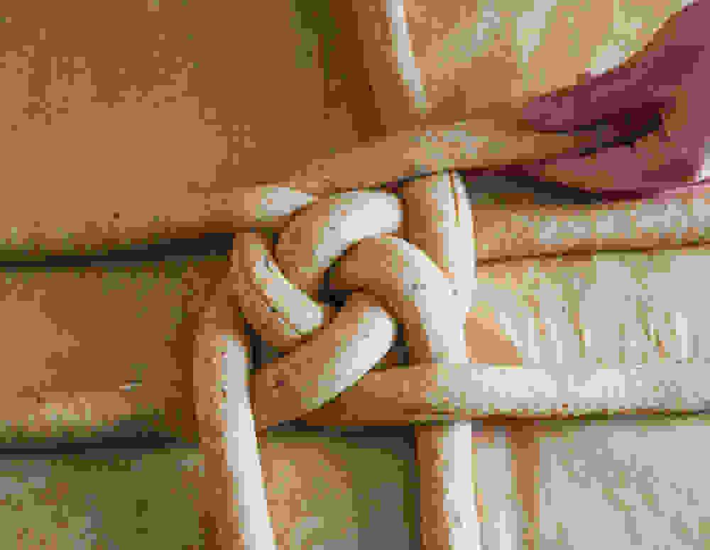 braiding the dough step three in progress