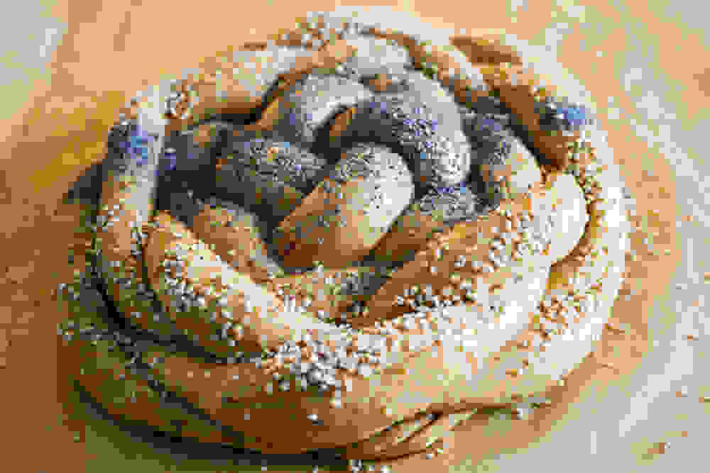 challah bread before baking