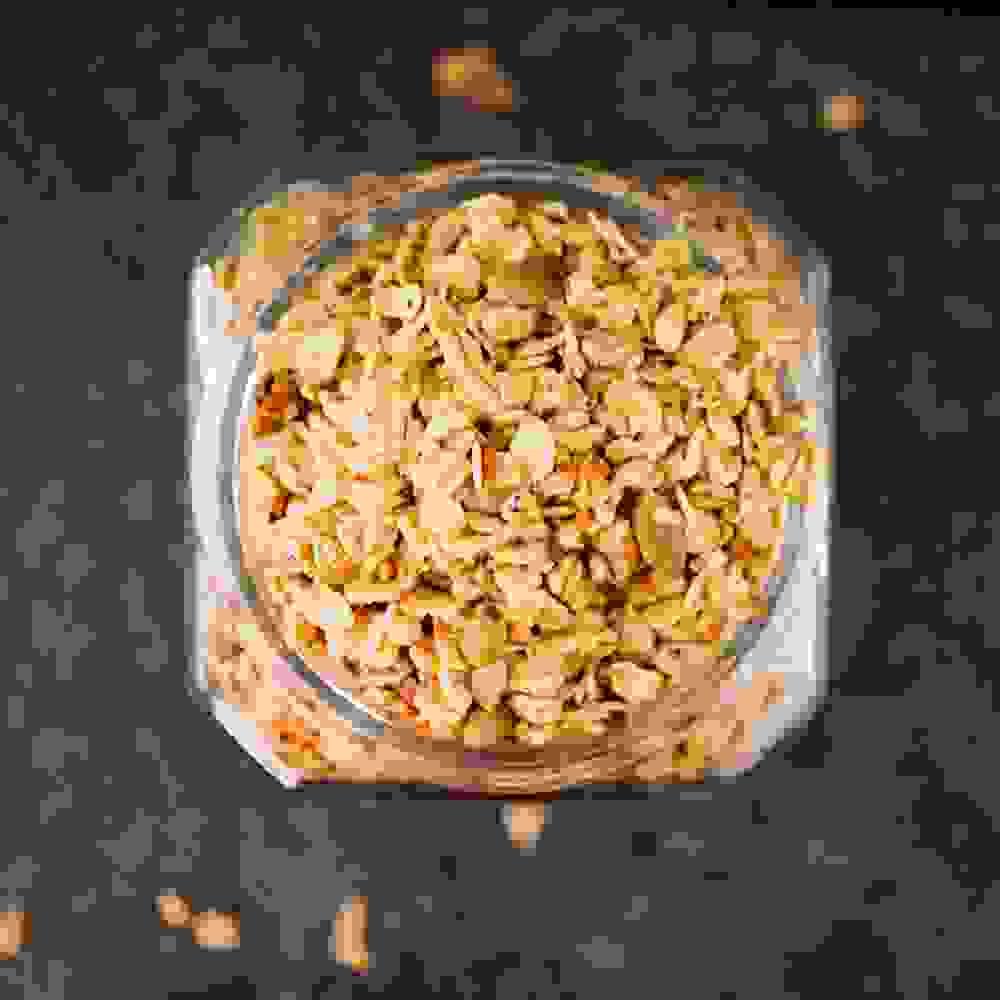 flatlay  granola jar