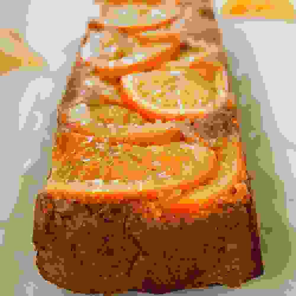 vegan upside down orange cake