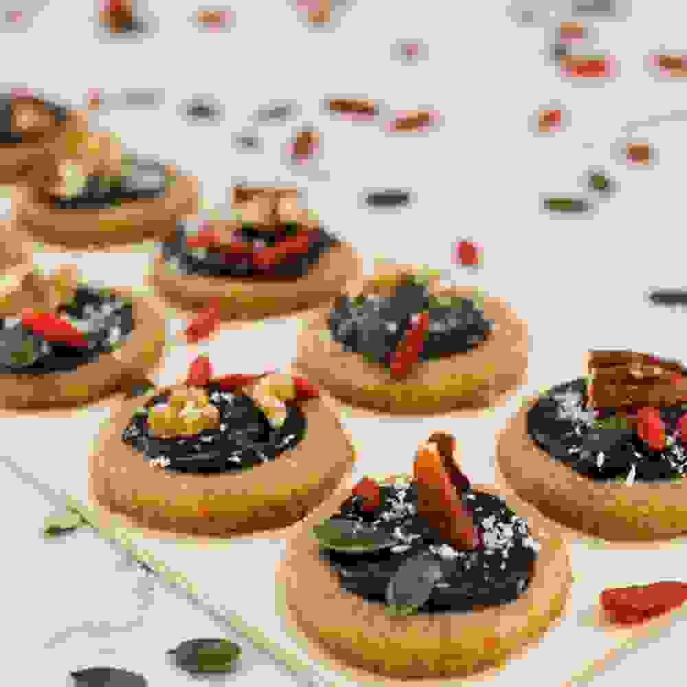 tu bishvat cookies with chocolate and dried fruit