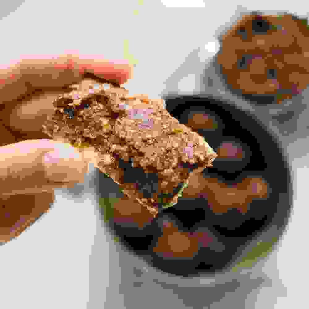 charoset spread on matza