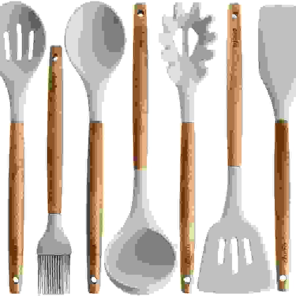 silicon utensil and spatula set
