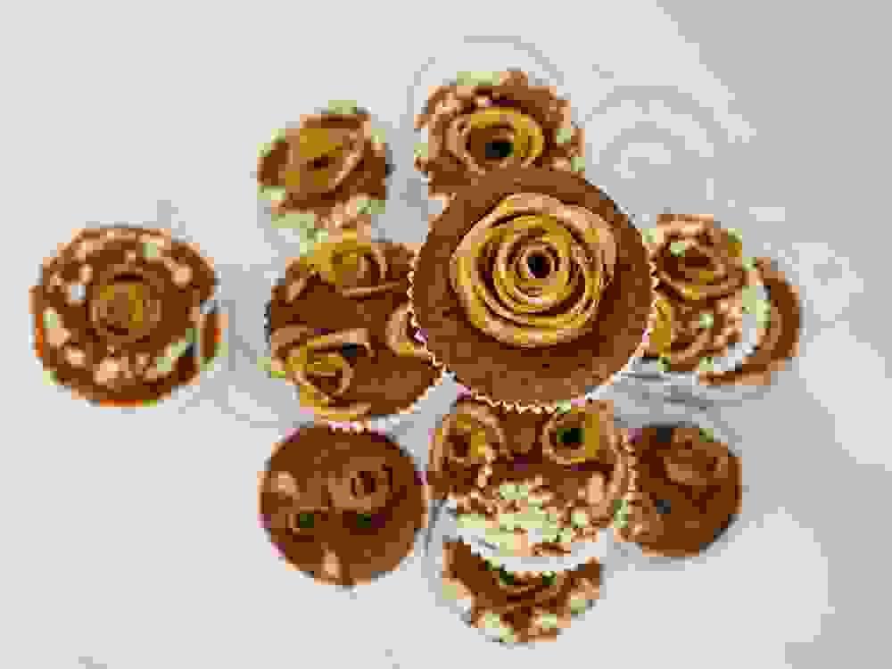 apple rose muffins pyramid