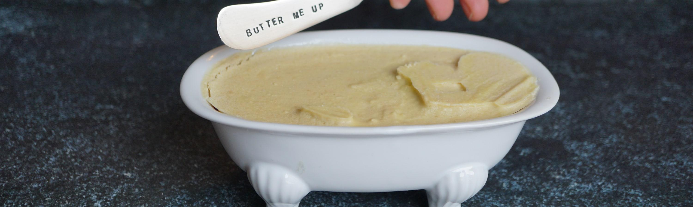 vegan butter and butter knife