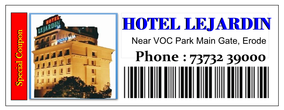 Hotel Le Jardin Special Coupon