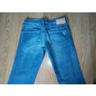 Jeans très evasé, patte d'éléphant DIESEL Bleu, bleu marine, bleu turquoise