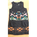 Pull tunique DESIGUAL Gris, anthracite