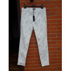 Pantalon slim, cigarette CAROLL Blanc et bleuté